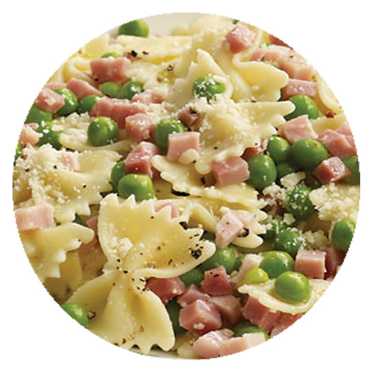 Ham and Green Peas Creamy Pasta Sauce