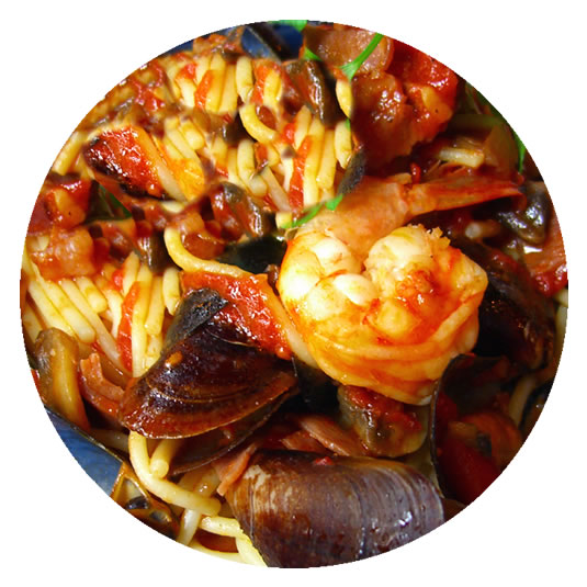Seafood Pasta Red