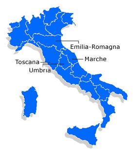 Central Italy - Information and Food